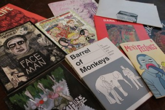 Some of the graphic novels published by the Cartoon House trio.