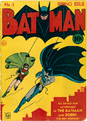 Cover of Batman #1 (Spring, 1940). Art by Bob Kane.
